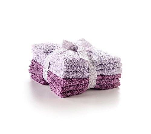 Living Quarters Washcloths: LivingQuarters 6-pk. Grape And Orchid Mist Cotton